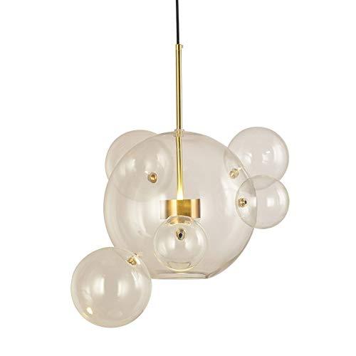 CYHY Nordic Kronleuchter Design, Wohnzimmer Esszimmer Schlafzimmer Kreative Persönlichkeit - Seifenblasenball Postmoderner Kronleuchter aus Glas (Size : 4 Ball) -