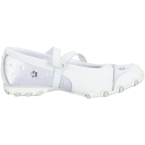 Skechers Bikers Fauna Smooth, Ballerines fille Blanc (Wht)
