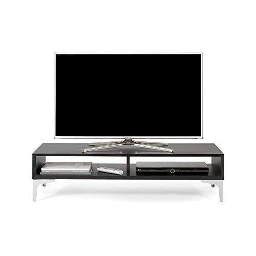 Mobili Fiver, Meuble TV, Mélaminé, Frêne Noir, 112 x 40 x 27 cm