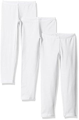 Hanes Little Girls' Leggings (Pack of 3), White, Large