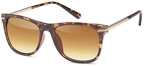 Vintage Sonnenbrille mit Metallbügel (braun)
