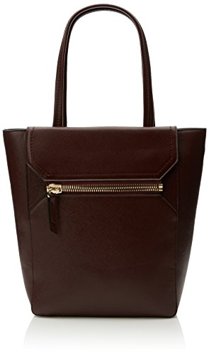 french-connection-womens-super-zip-pu-sage-tote-2-zinfandel-saffiano