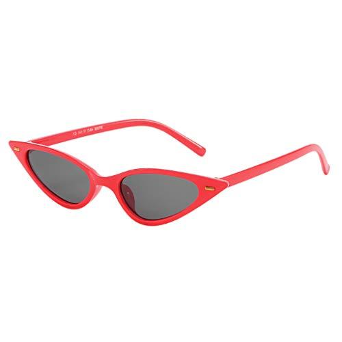 Igemy Unisex Mode Kleine Rahmen Sonnenbrille Vintage Retro Cat Eye Brillen (C)