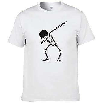 Lustige Männer T-Shirt Frauen Neuheit Tshirt Skelett Halloween DAB Tanz cool T-Shirt-1, XS