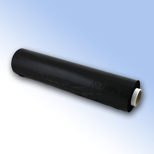 Preisvergleich Produktbild Paletten-Wickelfolie, 18 Rollen Stretchfolie, 500 mm x 250 m, Schwarz