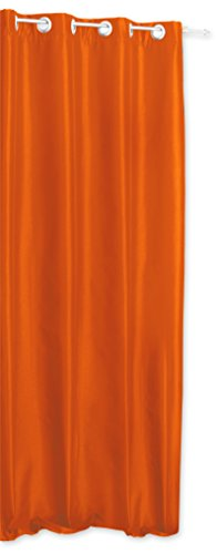 Preisvergleich Produktbild Haus und Deko Alaska Thermovorhang blickdicht mit Ösen aus Polar Fleece luxuriöse Breite 250x245 cm orange hell