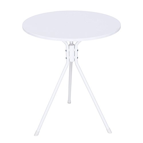 Songmics White Round Bistro Table Outdoor Garden Table Dining Table Coffee  Table ODS06W Produced By Songmics   Quick Delivery From UK.