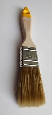 # FY1-Kleine-2,5cm-25mm-Kreide Farbe Shabby Chic Professional flach Pinsel für Holz Farben, wasserbasiertes und Kreide Farben