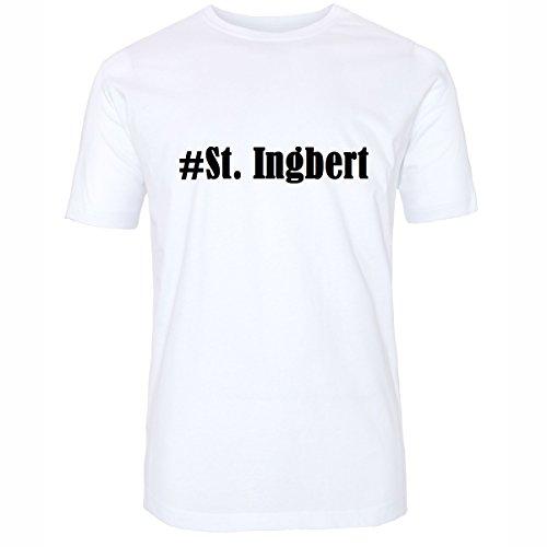 ... Farben Schwarz und Weiss Weiß. T-Shirt #St. Ingbert Hashtag Raute für Damen  Herren und Kinder .