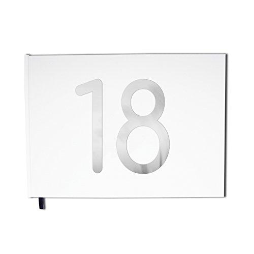 Livre d'or blanc - 18 ans - Anniversaire, souvenirs - Paysage - Couverture mate, lettres chromées -100 pages - Qualité premium