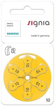 Siemens Signia Hearing Aid Battery 10(60PCS)  available at amazon for Rs.1999