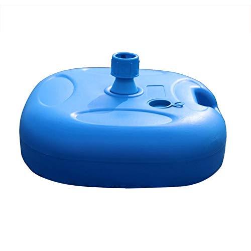 pretty-H 20L Schwere Platz Wasser Gefüllt Patio Outdoor Schirmständer Gewicht Mit Stahl Regenschirm Halter Anzug Für Durchmesser 22 MM Bis 32 MM Regenschirm Pole (Blau) - Patio-regenschirm-halter