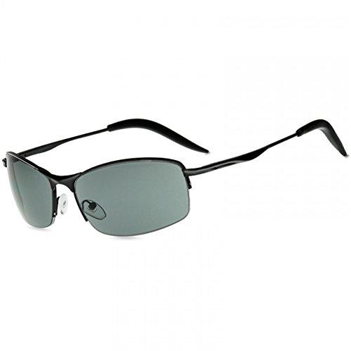 CASPAR SG010 Unisex Matrix Sport Sonnenbrille, Farbe:schwarz/schwarz getönt