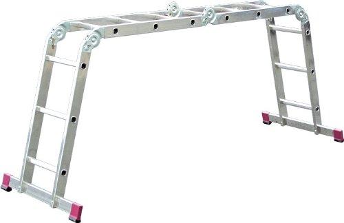 KRAUSE  lalh009Gelenk Leiter mit 4x 3Trittstufe, 2.95m/3M/4.4m Höhe Stehleiter, 1.7m Höhe Stehleiter, 3.5m Länge