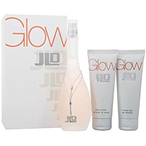 Jennifer Lopez Glow Gift Set 100ml EDT + 75ml Body Lotion + 75ml Shower Gel