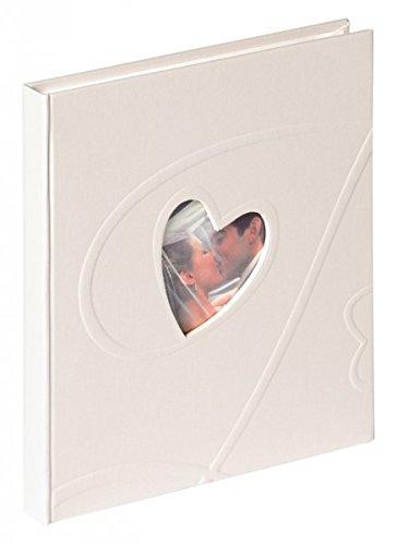 Walther Hochzeits Gästebuch AMORE - 144 weiße Seiten - 23 x 25 cm - mit Herz Bildausschnitt