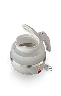 Macom Just Kitchen 862Space Kettle Bouilloire électrique pliable gain de place de voyage, blanc