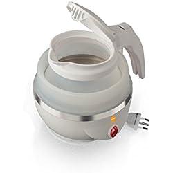 MACOM Just Kitchen 862 Space Kettle Bollitore Elettrico Pieghevole Salvaspazio da Viaggio, Bianco
