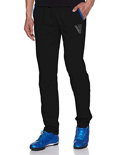Van Heusen Athleisure Men's Cotton Track Pant (50043_Large_Black)