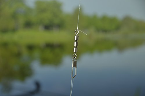 Profit Fishing Dreifachwirbel I 10 Stk I Gr. 3 (13kg) I Angel Wirbel Für Sbirolino Angeln, Spinner, Twister, Blinker I Verhindert Schnurdrall I Angel Wirbel - 6