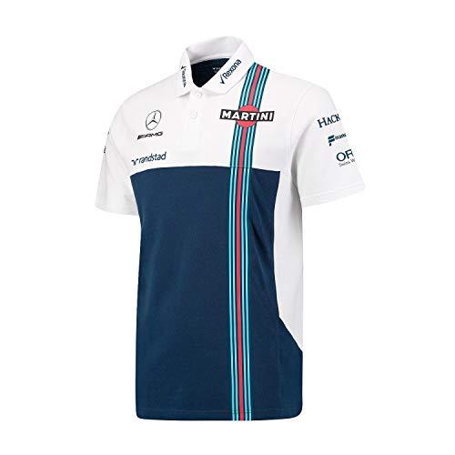 Williams Martini Racing Men's Team Polo Shirt (L) - Martini Racing Shirt