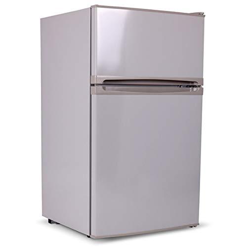 SIA UFF01SS 92L Freestanding Silver/Grey Under Counter 2 Door Fridge Freezer