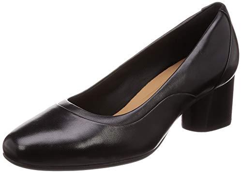 Für Kostüm Arbeit Einfache - Clarks Damen Un Cosmo Step Pumps, Schwarz Black Leather, 38 EU