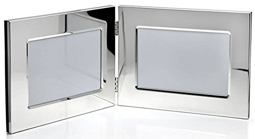 Silver Double Photo Frame 5x3.5 By David Van Hagen