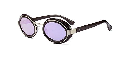 Hykis Metal Sonnenbrille Marke Designer super gro?er Rahmen 15 Farben Vintage-Sonnenbrillen Frauen Sunnies Shades Gafas Masculino Sol [lila]