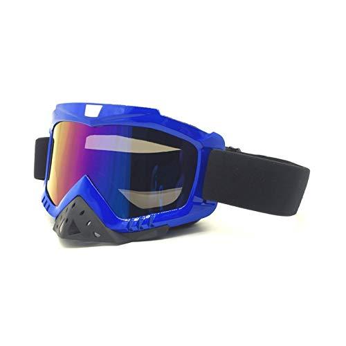 KnSam Winddicht Uv-Beständig Sportbrille Wechselgläser Kratzfester Scheibe Panoramablickfeld Blau Bunt Schutzbrille