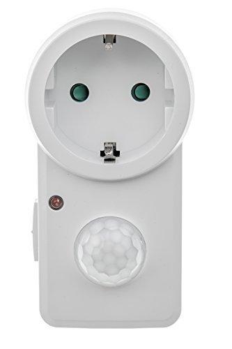 HUBER MOTION 20, Zwischenstecker mit Bewegungsmelder 140°, weiß, energieeffizient
