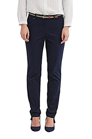 ESPRIT Collection 037eo1b001, Pantalon Femme, Bleu (Navy) , 40