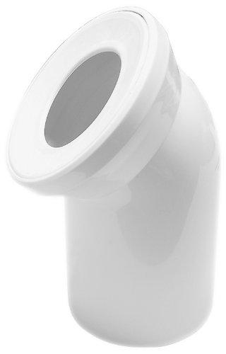 Anschlussbogen für Stand WC   Weiß   45 Grad   WC, Toilette