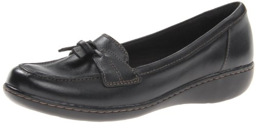 Clarks Ashland Blase Moc Toe Leder Loafer Black