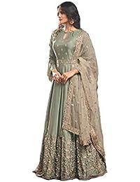 MONIKA SILK MILL Women's Silk Dress Material (MSMFMohini49004_Light Green_Free Size)