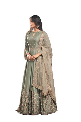 MONIKA SILK MILL Women\'s Silk Dress Material (MSMFMohini49004_Light Green_Free Size)