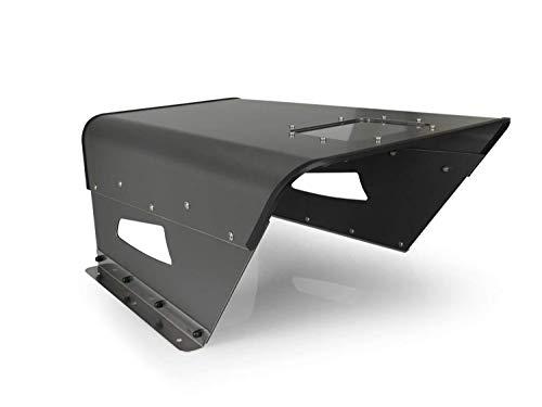 Hochwertige Mähroboter/Rasenroboter Überdachung + Nova M + - Garage bzw. Carport für Rasenmäher Roboter - Perfekter Schutz für viele Modelle (Kompakt Anthrazit)