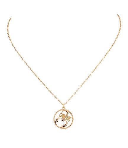 Sternzeichen, Skorpion, Statement Kette, Anhänger, Symbol, Gold (758-938) ()