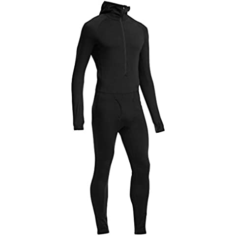 Icebreaker para hombre under ropa capucha Zone One diseño para mujer, otoño/invierno, hombre, color Negro - negro, tamaño XL