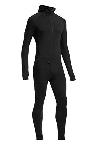 Icebreaker Herren Underwäsche Kapuze Zone One Sheep Suit, Black, XL, 102640