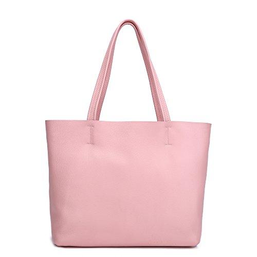 Damero delle donne Vintage spalla del sacchetto con fodera rimovibile (Grande, Marrone) rosa