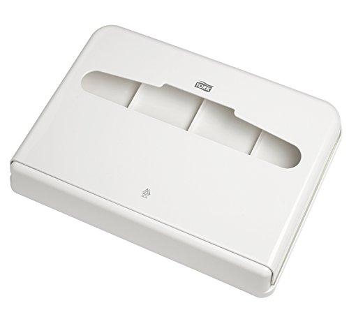 SCA Tork 344080 Spender für Toilettensitzabdeckung aus Kunststoff, Weiß (12-er Pack)