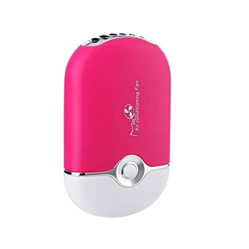 DAXINYANG Mini tragbare Hand Schreibtisch Klimaanlage Befeuchtung Kühler Lüfter,Red