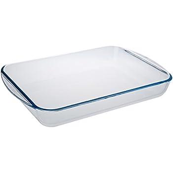 Pyrex 4936009 Essentials Plat à lasagnes rectangulaire en verre - 40x28x6 cm