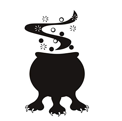 HLZLA Halloween Cauldron Monster Wandaufkleber Vinyl DIY Wohnkultur Abnehmbare Klebstoff Wohnzimmer Wandtattoo Für Kinder 44x73 cm