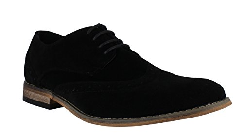 classics-mens-faux-suede-smart-formal-casual-lace-up-brogues-shoes-uk9-black