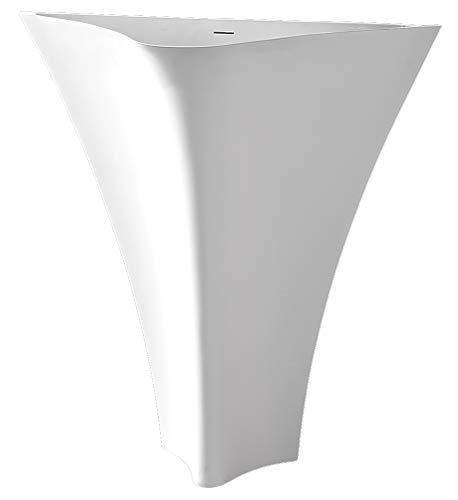 Bernstein Badshop Standwaschbecken TWZ10 Waschbecken aus Mineralguss (Solid Stone) - 86x36x85cm (Badezimmer Standwaschbecken)