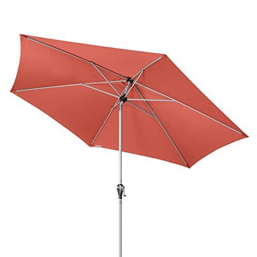 Doppler Active Auto Tilt 320 - Kurbel Sonnenschirm ideal für Terrasse und Garten - Knickbar - ca. 320 cm - Terra Cotta