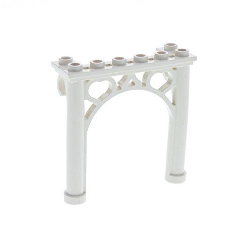 1 x Lego System Tor Bogenstein weiss 2 x 6 x 5 Ornamente rund Bogen Brücke Castle Arch Fabuland Disney's Mickey Mouse 2145 (Mickey Arch)
