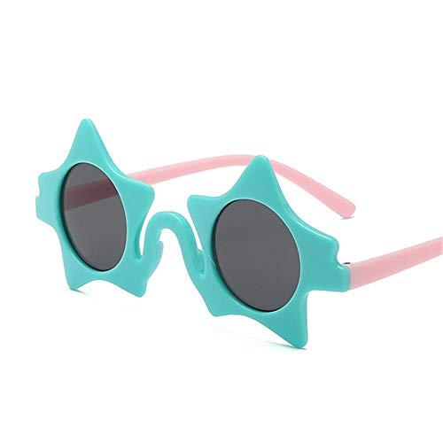 Wang-RX Kinder Pentagramm Sonnenbrille Nette Kinder Sonnenbrille Unregelmäßiger Spiegel UV 400 Polarisierte Outdoor Baby Sicherheit Geschenk